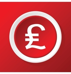 Pound sterling icon on red vector