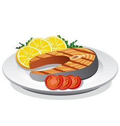 Steak salmon vector