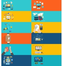 Icons set banners for business presenteshion vector