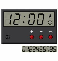 Liquid-crystal clock vector