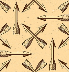 Seamless pattern with vintage arrows vector