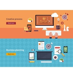 Set of flat design concepts of vector