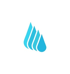 Droplet fresh water logo mockup cleaning or liquid vector