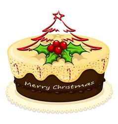 A delicious cake for christmas vector