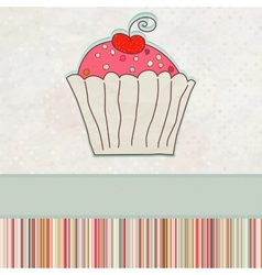 First birthday card eps 8 vector