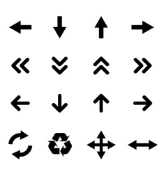 Set of flat icons - arrows vector