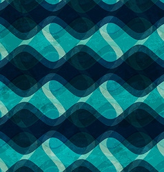 Ocean wave seamless texture with grunge effect vector