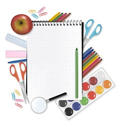 Back to school notepad with s vector