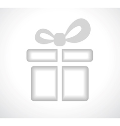 Silhouette of a gift box with a bow vector