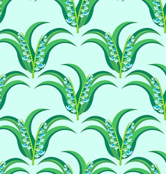 May-lily seamless pattern vector