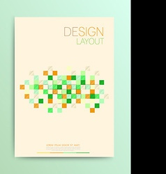 Brochure design templates abstract flyer modern vector