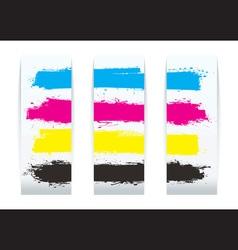 Four colour paper banner vector