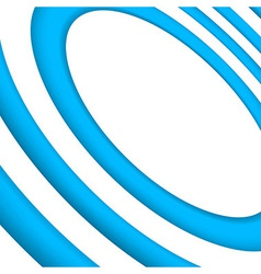 Bright blue concentric background template vector