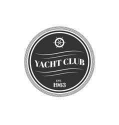 Yacht club logo vector