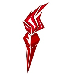 Red stylized torch vector