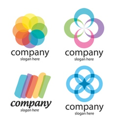 Abstract solution logos vector