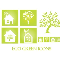Eco green icons vector