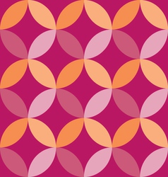 Overlapping circles geometric background vector