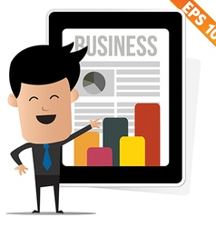 Business news on tablet - - eps10 vector