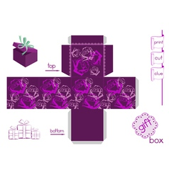 Template for bright gift box vector