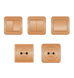 Power sockets and switches vector