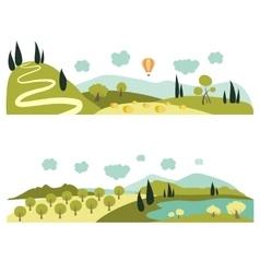 Summer landscapes vector