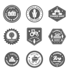 Farmer label set vector
