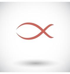 Fish single icon vector