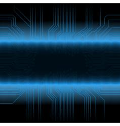 Glowing circuitry board design frame vector