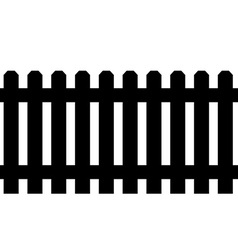 Black fence vector