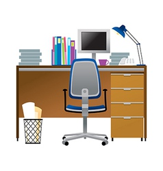 A view of desk vector
