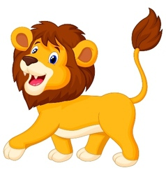 Lion cartoon walking vector
