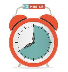 Forty minutes stop watch - alarm clock vector