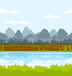 Mountain game background vector