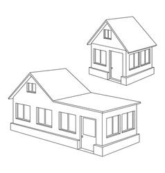 Apartment house contour vector