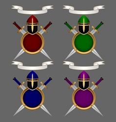 Armor knight set vector