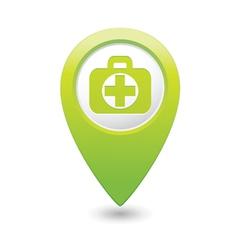 Medical icon green pointer2 vector