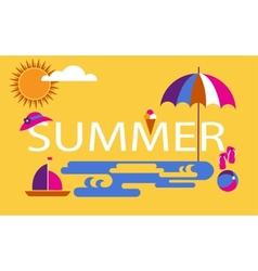 Summer time seasonal vacation at the beach vector