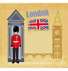 Grunge banner with london vector