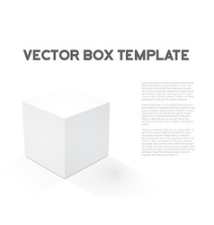 Realistic 3d cube device box icon vector