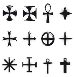 various religious symb vector