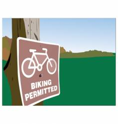 Biking permitted vector