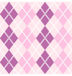 Seamless argyle pattern in pastel colors vector