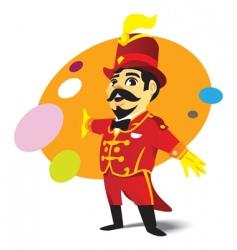 Circus ringmaster vector