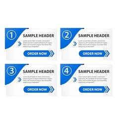 Option banners with order button vector