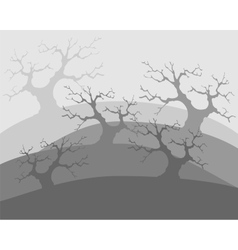 Dead trees poor environment the apocalypse vector