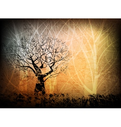Grungy forest vector