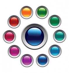 Color buttons set vector