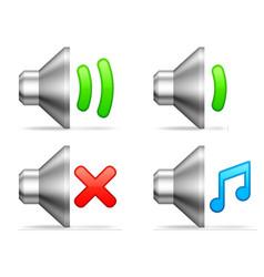 Audio volume icons vector