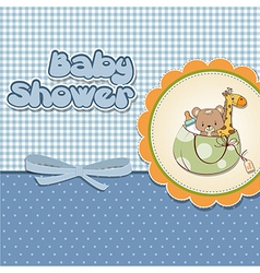 Childish cartoon greeting card vector